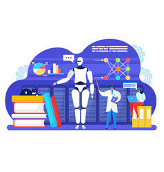 Artificial intelligent machine learning vector