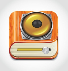 Audio book icon vector image