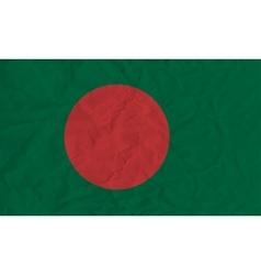 Bangladesh paper flag vector image