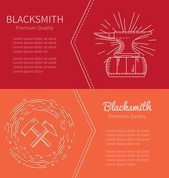 Banner blacksmith vector
