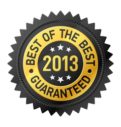 Best of the Best 2013 label vector image