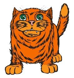 Big red cat vector image
