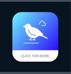 Bird british small sparrow mobile app button vector