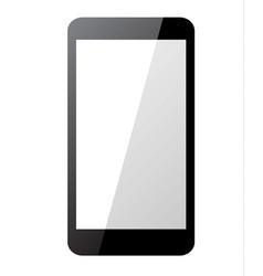 black smartphone on white background vector image