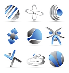 blue business icons design vector image vector image