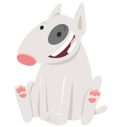 Bull terrier dog cartoon character vector