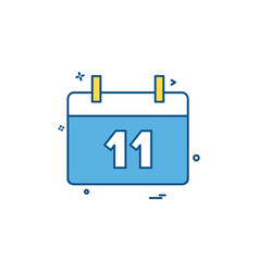 calender icon design vector image