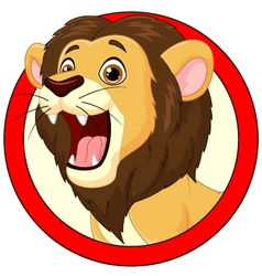 Cartoon lion roaring vector image