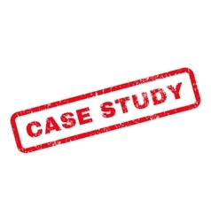 Case study text rubber stamp vector