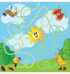 Childrens puzzle - maze vector image