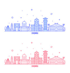 chisinau skyline moldova city buildings vector image