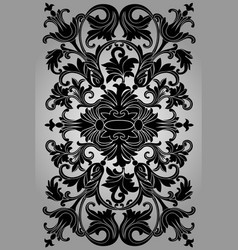 classic black ornament on a gray background vector image
