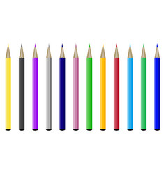 collection of colored pencils vector image