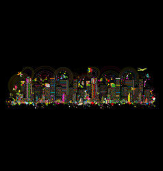 Colorful metropolis abstract background for your vector