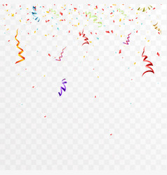 confetti decoration party celebration design vector image