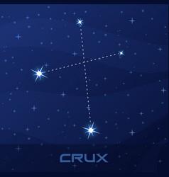 Constellation crux cross night star sky vector