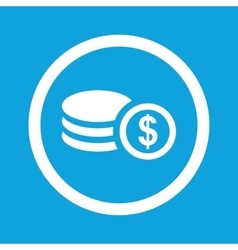 Dollar rouleau sign icon vector