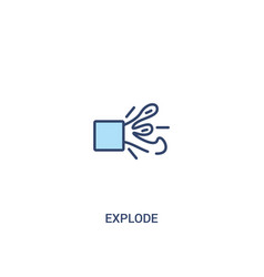 Explode concept 2 colored icon simple line vector
