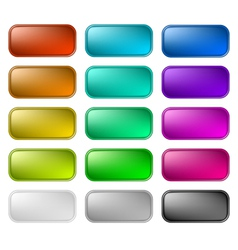 Glassy buttons for web vector image