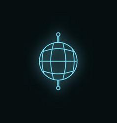 global network neon icon web development icon vector image