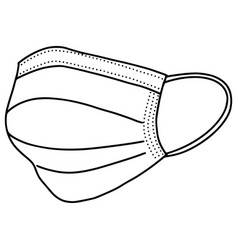 Hand drawn medical mask isolated on white vector