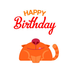 happy birthday cat card vector image