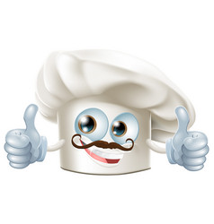 Happy cartoon chef character vector