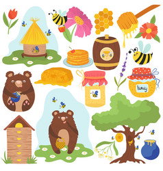 honey funny cartoon icons vector image