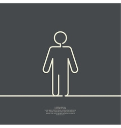 Human male sign icon vector image