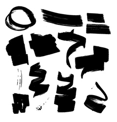INK Brush Element Set2 vector image
