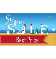 Inscription Super Sale vector