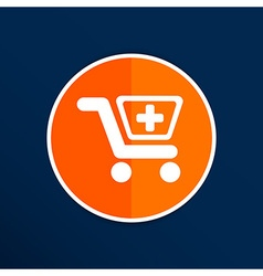 isolated shopping cart icon with a pharmacy sign vector image