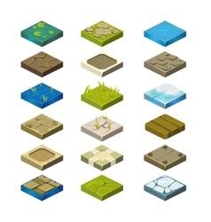 Isometric Platforms Set vector