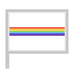 Jewish autonomous oblast flag on flagpole icon vector