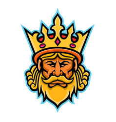King with crown mascot vector