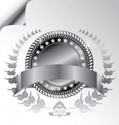 Laurel wreath medallion vector
