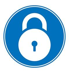 Lock symbol button vector image