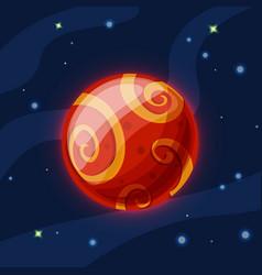 mars cartoon red planet vector image