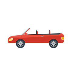 Modern cabriolet isolated icon vector