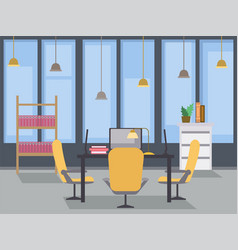 modern office interior design flat vector image