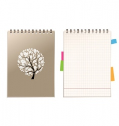 Notebook cover vector