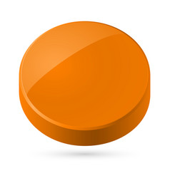 Orange disk isolated on white background vector