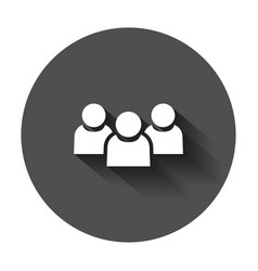 people communication icon in flat style people vector image