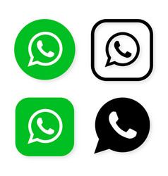 phone handset icon in speech bubble on green vector image