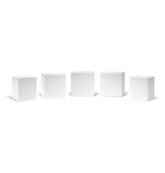 Realistic white cubes vector