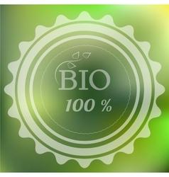 Retro logo Bio vector image