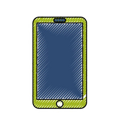 scribble tablet cartoon vector image