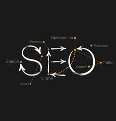 seo vector image