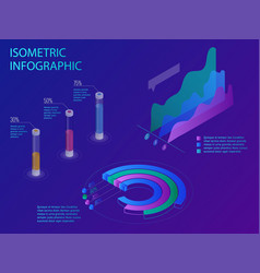 set of infographics with data financial graphs or vector image