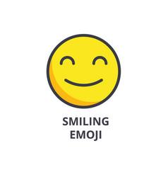 smiling emoji line icon sign vector image